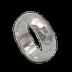 R772 Silberring leicht gehämmert