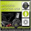 Ombouwset MIDDENMOTOR met USB-aansluiting & Accu in Drager