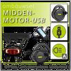 Ombouwset MIDDENMOTOR met Drager-Accu & USB BBS01B/2016