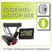 Ombouwset VOORWIEL-motor met USB-aansluiting