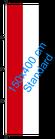 Jemen / Hißfahne im Hochformat