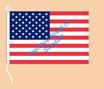 USA / Hißfahne im Querformat