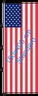 USA / Hißfahne im Hochformat