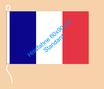 Frankreich / Hißfahne im Querformat