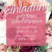 Quadratische Karte -Einladung Blumenmeer- individualisierbar