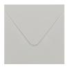 Envelop steengrijs 14x14 cm