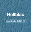 "MK-EXKLUSIVE orthopädische visco Hundematratze in ""Kunstleder-Hellblau"""