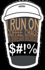 Chaos & Coffee Sticker