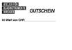 GESCHENK - REPARATURGUTSCHEIN        CHF 50.00 - 150.00
