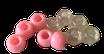 Kunststoffperlen in Rosa / Perles rose