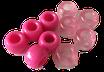 Kunststoffperlen in Pink / Perles pink