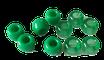 Kunststoffperlen in Grün / Perles vert