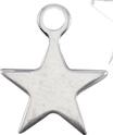 """Charm Stern Antiksilber aus Metall / Etoile métallique couleur """"argent antique"""""""