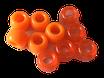 Kunststoffperlen in Orange / Perles oranges