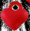 Charm Herz Dunkelrot aus Acryl / Coeur rouge acrylique, 2 Stück/pièces