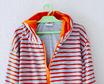Bademantel 'Blue/Orange Stripes'