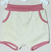 Frottee-Shorts 'Vanille/Altrosa'