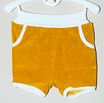 Frottee-Shorts 'Senf/Weiß'