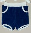 Frottee-Shorts 'Dunkelblau/Weiß'