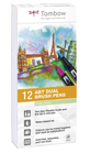 Set 12 pz Dual Brush Tombow Colori Pastello