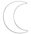 Mezzaluna in metallo Rayher Cod. 24124000