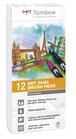 Set 12 pz Dual Brush Tombow Colori Toni Grigio