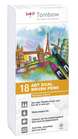 Set 18 pz Dual Brush Tombow Colori Secondari