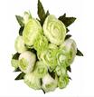 Bouquet Ranuncoli h 25cm Cream/Green