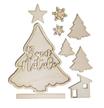 Set Legno Abete Buon Natale