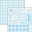 Paper Sheet Cuore Italiano Azzurro