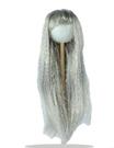 Parrucca Sintetica Liscia Argento col 1002
