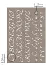 Stencil Alfabeto Artemio Cod. 15050020