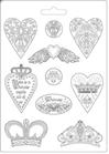 Stampo  Cuori e Corone K3PTA471