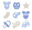 Forme in Feltro Fustellate Baby Boy Cod. 13070137