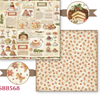 Carta Scrap Double Face Christmas Vintage Patisserie SBB568