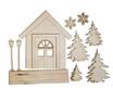 Set Legno Winter House