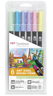 Set 6 pz Dual Brush Tombow Colori Pastello