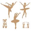 Stencil Decò Ballerine cod. 0001217