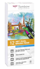 Set 12 pz Dual Brush Tombow Colori Primari