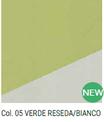 Tessuto Primette Verde Reseda/Bianco Renkalik Col. 05