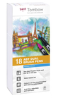 Set 18 pz Dual Brush Tombow Colori Primari