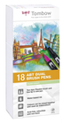 Set 18 pz Dual Brush Tombow Colori Pastello