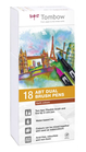 Set 18 pz Dual Brush Tombow Colori Terrestri