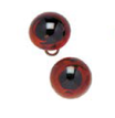 Occhi in Vetro per pupazzi 16mm Marroni Cod. 743-101