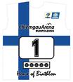 Original Biathlon Startnummer Finnland / Bib Finland