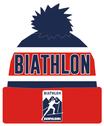 "Biathlon Ruhpolding Beanie ""blau/weiss/rot"""