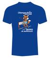 """Kinder T-Shirt """"Beppo der Biathlonfuchs"""" in blau"""