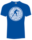 "T-Shirt ""Nationen"" in royal blau"