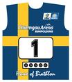 Original Biathlon Startnummer Schweden / Bib Sweden