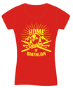"Damen T-Shirt ""Home of Biathlon"" in rot"